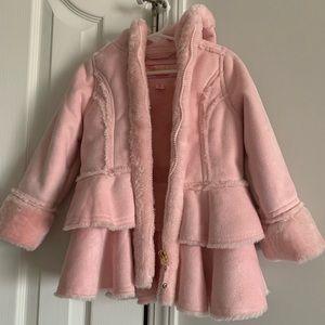Toddler Pink fur coat